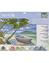 Reeves Tropical Beach Acrylic Painting by Numbers Set, Large
