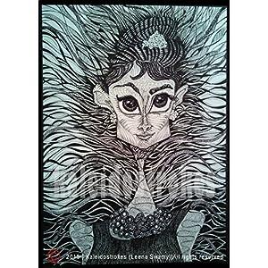 Kaleidostrokes Caricature - Audrey Hepburn