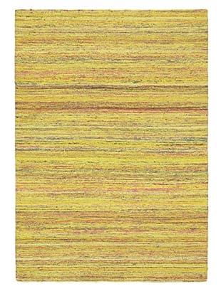Hand Woven Silky Allure Modern Flatweave Kilim, Yellow, 4' 7