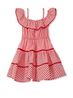 TroiZenfants Girl's Tiered Dress (Red)