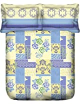 Portico New York Marvella 144 TC Cotton Bedsheet with 2 Pillow Covers - Abstract, Queen Size, Multicolour