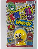 "Emoji 3"" Wind Up Toy Yellow Yelling Face Figure"