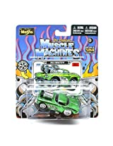 1962 Corvette (Green) * The Original Muscle Machines * Series 13 Maisto 1:64 Scale Die-Cast Vehicle Collection