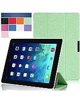 iPad Air 2 Case, i-Blason Apple iPad Air 2 Case [2nd Generation 2014 Release] i-Folio Slim Hard Shell Stand Case Cover [Life Time Warranty] for iPad Air 2 (iPad Air 2, Green)