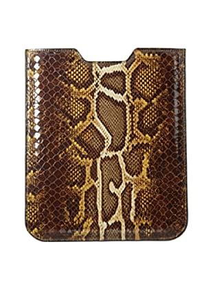 Graphic Image Women's iPad Sleeve, Brown Python