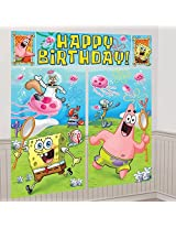SpongeBob SquarePants Scene Setter Wall Decorations Kit - Kids Birthday and Party Supplies Decoratio
