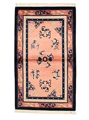 Roubini Chinese Antique Finish Rug, Pink/Salmon/Navy, 3' 2