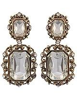 IN TREND White Metal Dangle & Drop Earrings for Women (3654GH)