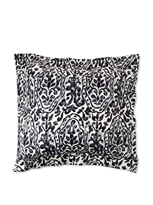 Edmond Frette Procida Print Pillow Sham, Black/Ivory, Euro