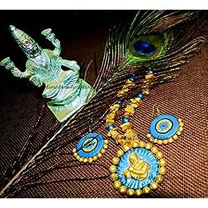AUrA-EArTH Krishnageeth jewellery Set