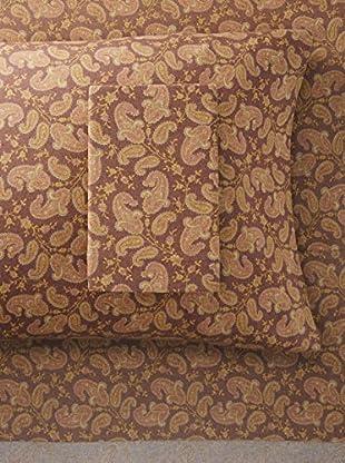La Rochelle Brown Heather Flannel Paisley Sheet Set (Brown)