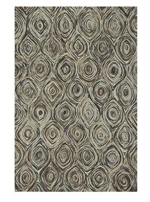 Loloi Rugs Rowan Rug, Charcoal/Brown, 5' x 7' 6
