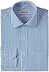 Vivaldi Men's Formal Shirt (8907007109427_VF0811_39_White and Blue)