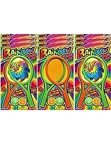 Ja-Ru Rainbow Racquet Set (Party Favor Bundle Pack of 9)
