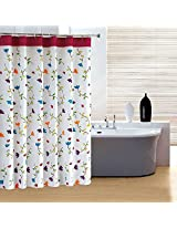 180x200cm Orchid Flower Waterproof Polyester Fibre Bathroom Shower Curtain