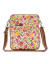 Pink Lining Out and About Mini Messenger Cottage Garden Bag, Multicoloured