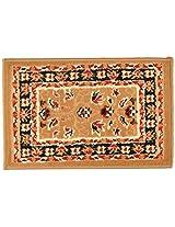 Agra Dari Woolen Rug - 14'' x 24'' x 0.4'', Cream