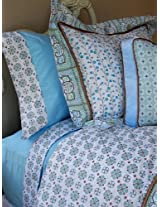 Caden Lane Modern Vintage Collection Bedding Full Duvet, Blue