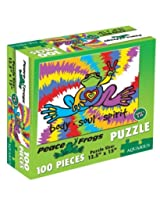Peace Frogs 100 Piece Jigsaw Puzzle by Aquarius