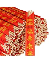 """Royal Paper Premium Disposable Bamboo Chopsticks Sleeved and Separated (Bag of 25), 9"""", Brown"""
