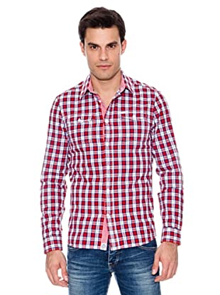 Pepe Jeans London Camisa Harding (Rojo / Marino)