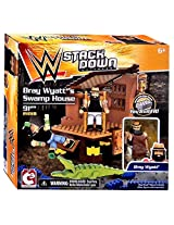 WWE Wrestling C3 Construction StackDown Bray Wyatts Swamp House Playset #21018