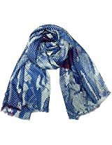 INDMODE Girls' Scarf (Blue and Red)