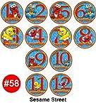 Monthly Onesie Sticker Set of 12 - SESAME STREET Baby Month Onesie Stickers Baby Shower Gift Photo Shower Stickers, Choose 1 of 9 designs by OnesieStickers