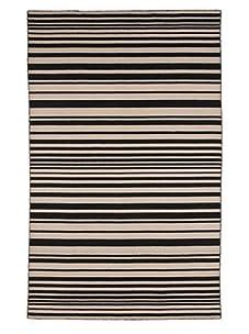 Jaipur Rugs Chapala Flat Weave Rug (Black/Tan)