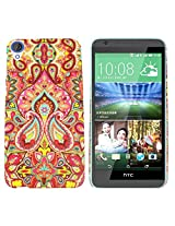 Heartly Aztec Tribal Art Printed Design Retro Color Armor Hard Bumper Back Case Cover For HTC Desire 820 820Q 820S Dual Sim - Colorful Mehndi