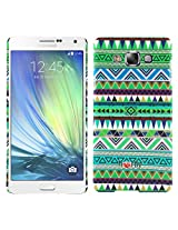 Heartly Aztec Tribal Art Printed Design Retro Color Armor Hard Bumper Back Case Cover For Samsung Galaxy A7 SM-A700F Dual Sim - Nature Green