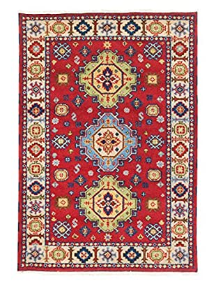 eCarpet Gallery One-of-a-Kind Hand-Knotted Royal Kazak Rug, Cream/Red, 4' 2