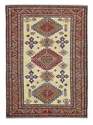 Kalaty One-of-a-Kind Kazak Rug, Ivory, 4' x 6' 3