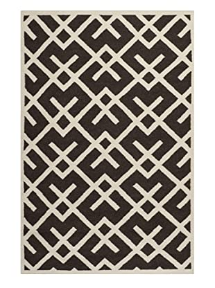 Safavieh Dhurrie Rug (Brown/Ivory)