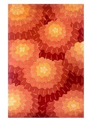 Momeni Bold Floral Rug (Orange)
