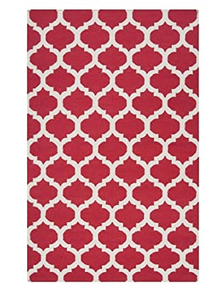 Surya Frontier Flat Weave Rug (Red)