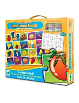 The Learning Journey Puzzle Doubles Let's Learn Foods Floor Puzzle