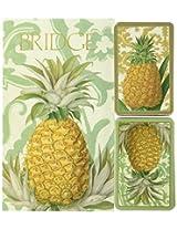 Royal Pineapple Bridge 2 Score Pads Playing Cards Gift Set