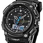 OHSEN Men Women Digital LCD Alarm Date Military Sport Diving Quartz Wrist Watch