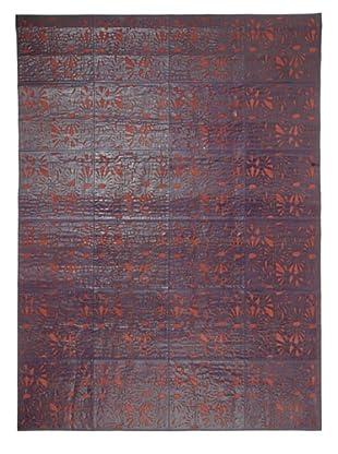 Hide Rug Ornate Pattern, 6' x 9'