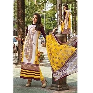 Yellow Pakistani Salwar Kameez Suit