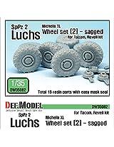 Def Model 1:35 Ger Luchs 8 X8 Michilin Xl Sagged Wheel Set 2 Tacom Revell Dw35082