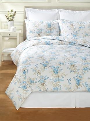 Bella Letto Iris Duvet Set (White/Turquoise)