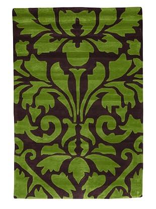 Kavi Handwoven Rugs Contemporary Rug, Green/Purple, 4' x 6'