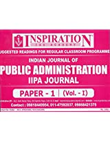 Indian Journal of Public Administration IIPA Journal Paper-1 (Vol.-I)