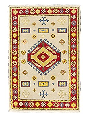 Hand-Knotted Royal Kazak Rug, Light Gray, 4' 1