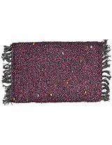 Agra Dari Woolen Rug - 14'' x 24'' x 0.4'', Pink