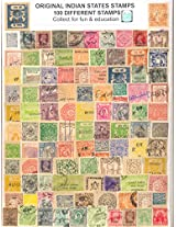 Stamps Indian States Large & Small Size Postage & Revenue - 100 Different