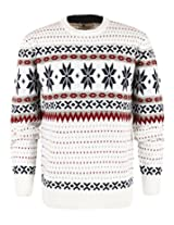 ililily Men's Classic Snowflake Pattern Winter Holiday Pullover Knit Sweater(tshirts-161-3-L)