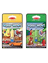 Melissa and Doug Water Wow 2 Pack Bundle: Vehicles and Animals